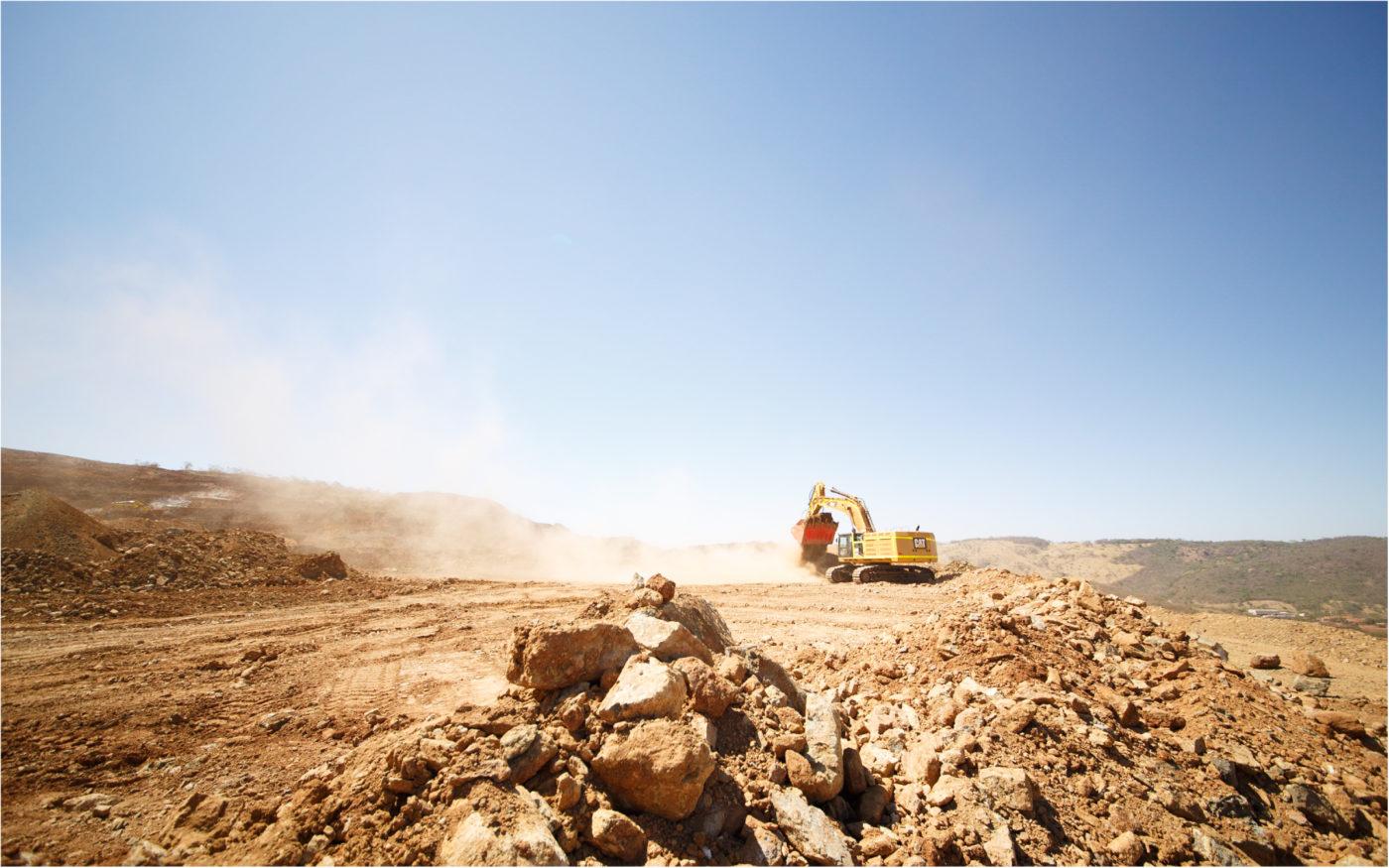 Edição de fotos Mineração Antes
