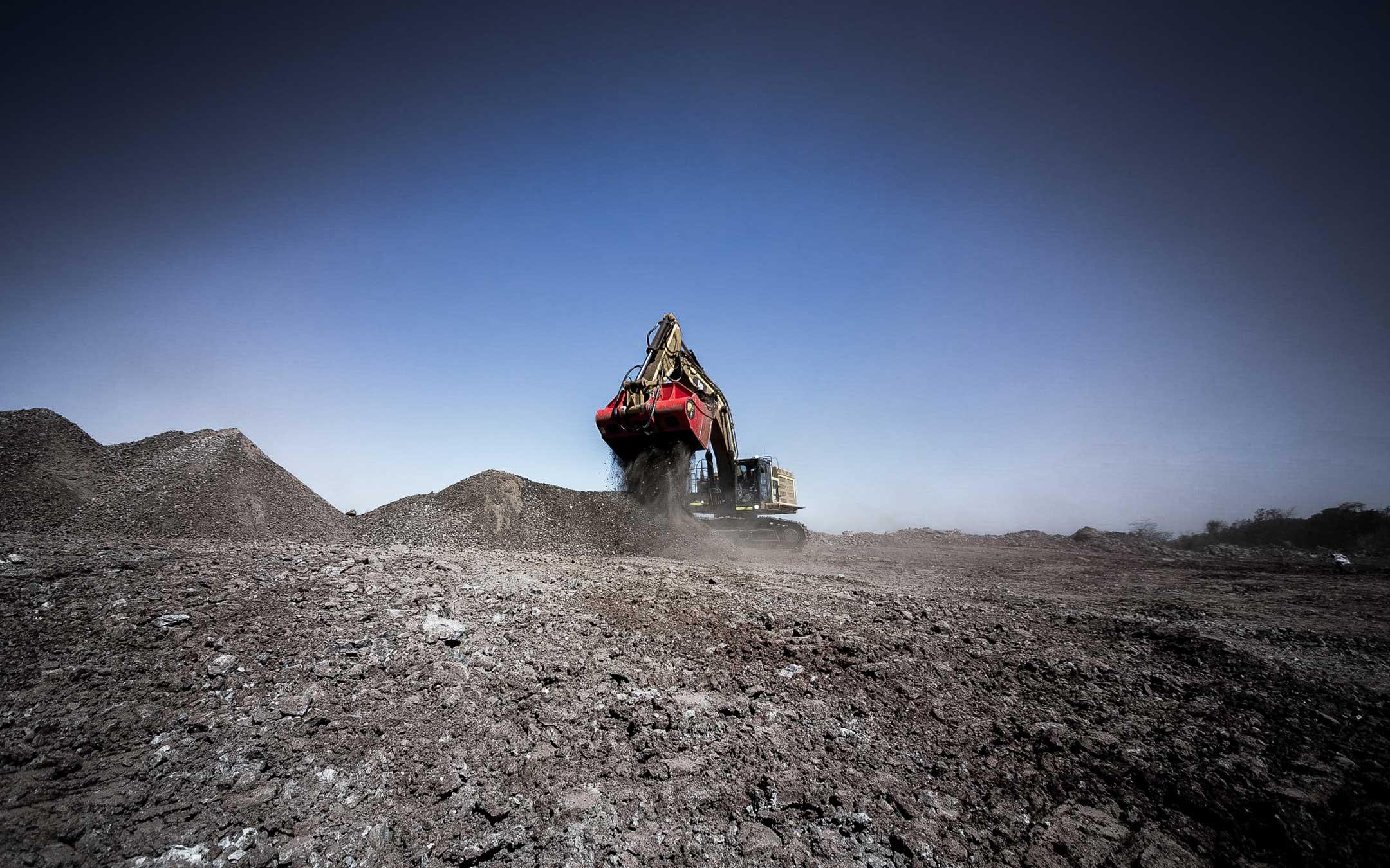Fotografia Industrial | Frebnte de lavra de mineração