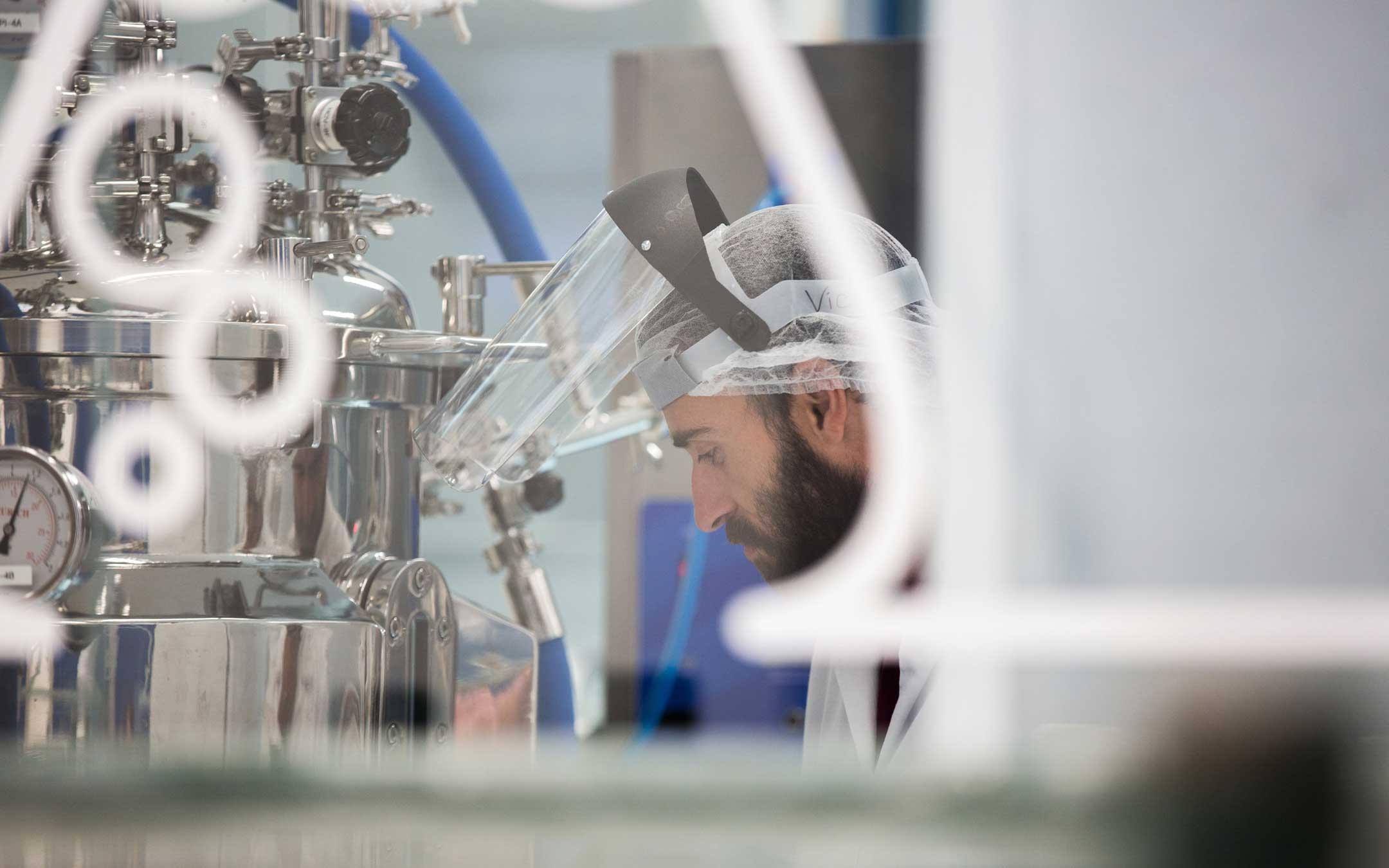 Fotografia industrial Produção Biotecnológica